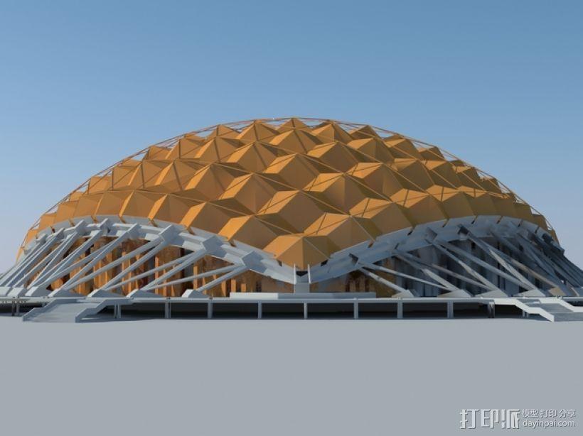 卡拉特拉瓦体育场 3D打印模型渲染图