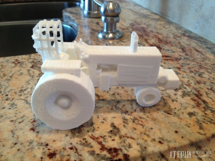 法摩尔拖拉机 3D打印模型渲染图