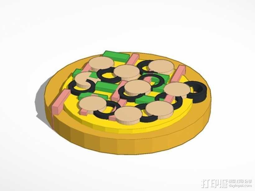 披萨 3D打印模型渲染图