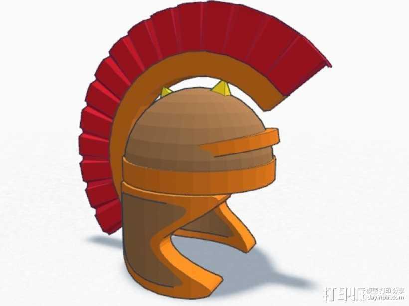 罗马人的头盔 3D打印模型渲染图