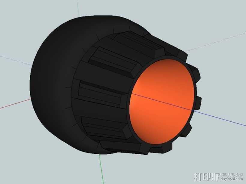 喷射发动机外保护罩 3D打印模型渲染图