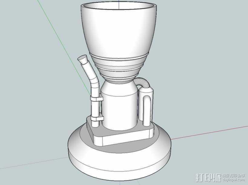 KSP LV-T30 火箭引擎 3D打印模型渲染图