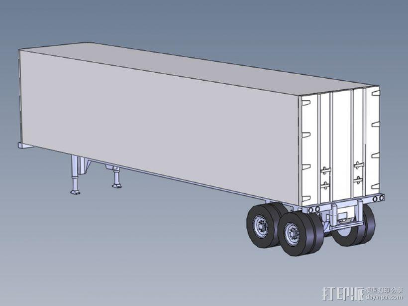 箱型拖车 3D打印模型渲染图
