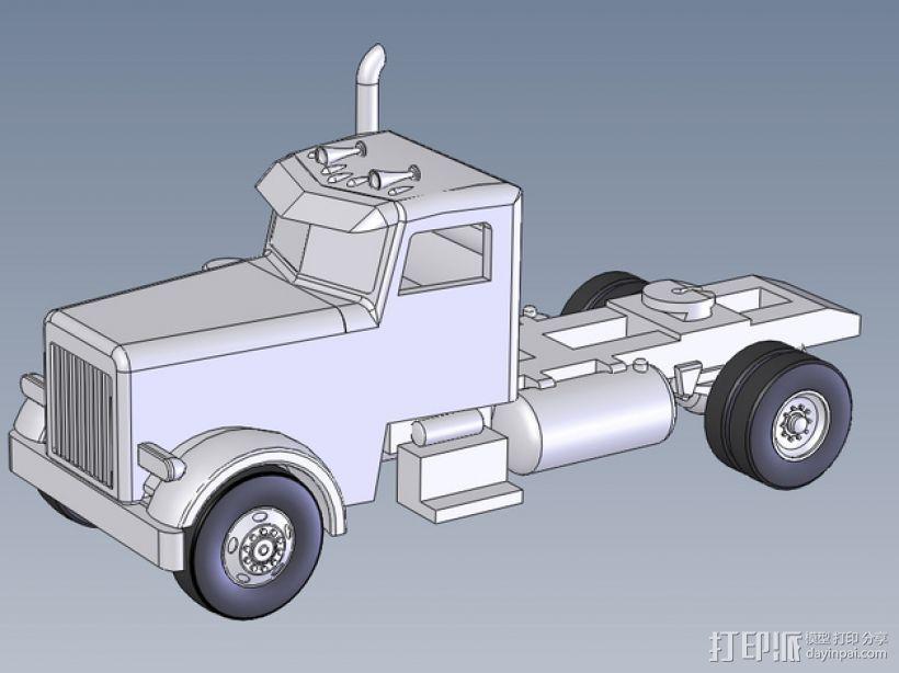箱型拖车前部 3D打印模型渲染图