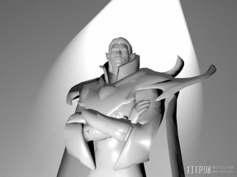 刀塔传奇Invoker人物造型模型 3D打印模型渲染图