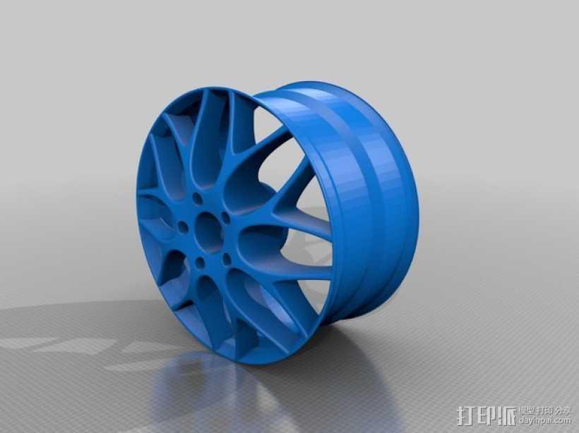 宝马汽车 车轮圈 3D打印模型渲染图