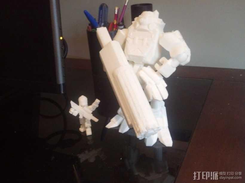 泰坦陨落大力神Atlas模型 3D打印模型渲染图