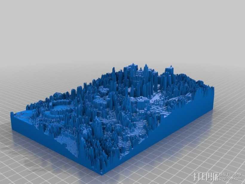赫斯特城堡 3D打印模型渲染图