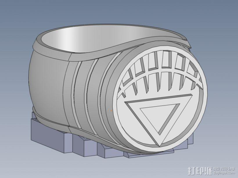 白灯指环 3D打印模型渲染图