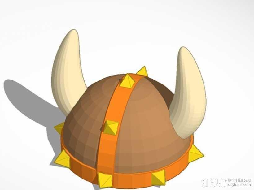 维京人头盔  3D打印模型渲染图