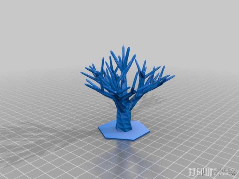 树 首饰架 3D打印模型渲染图
