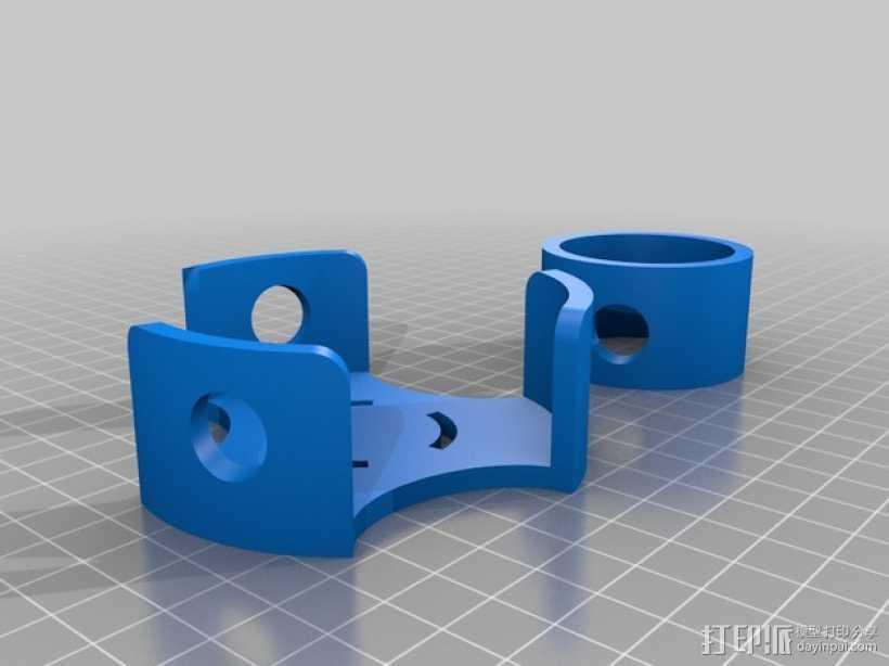 圆形屋顶连接器 3D打印模型渲染图