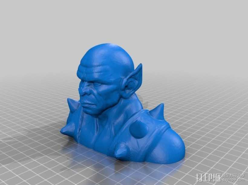 霹雳猫半身像  3D打印模型渲染图