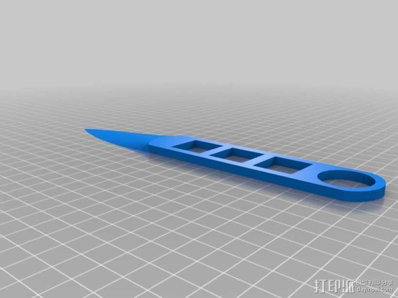 飞刀 3D打印模型渲染图
