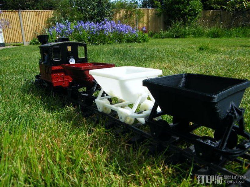 哈德森自卸铁路货车 3D打印模型渲染图