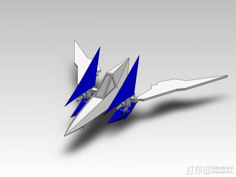 Star Fox飞机模型 3D打印模型渲染图