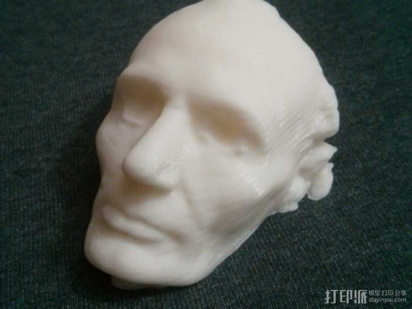 林肯面部模型 3D打印模型渲染图