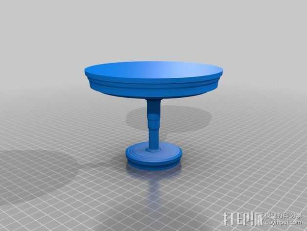 小圆桌 3D打印模型渲染图