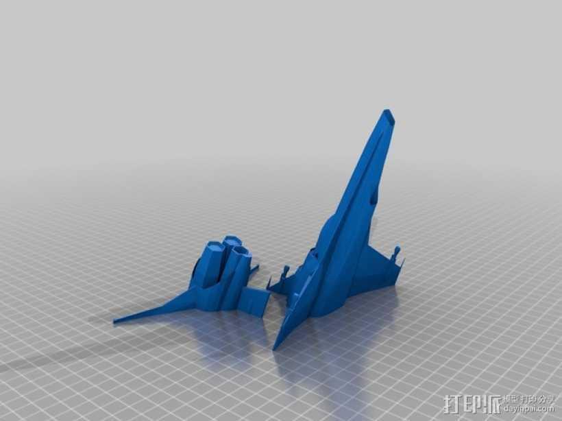 Battlestar Galactica Viper MKVII 飞船模型 3D打印模型渲染图