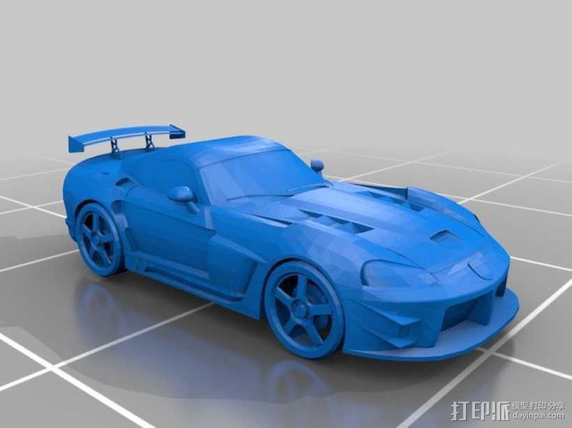 道奇蝰蛇   SRT-10跑车 3D打印模型渲染图
