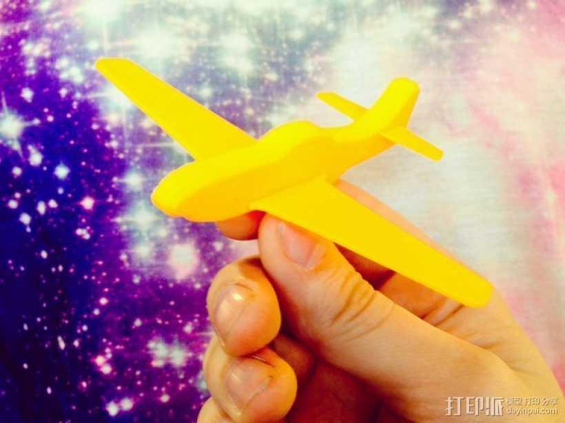 p-51 野马战斗机 3D打印模型渲染图
