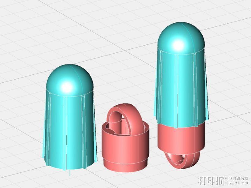 火箭前锥 3D打印模型渲染图