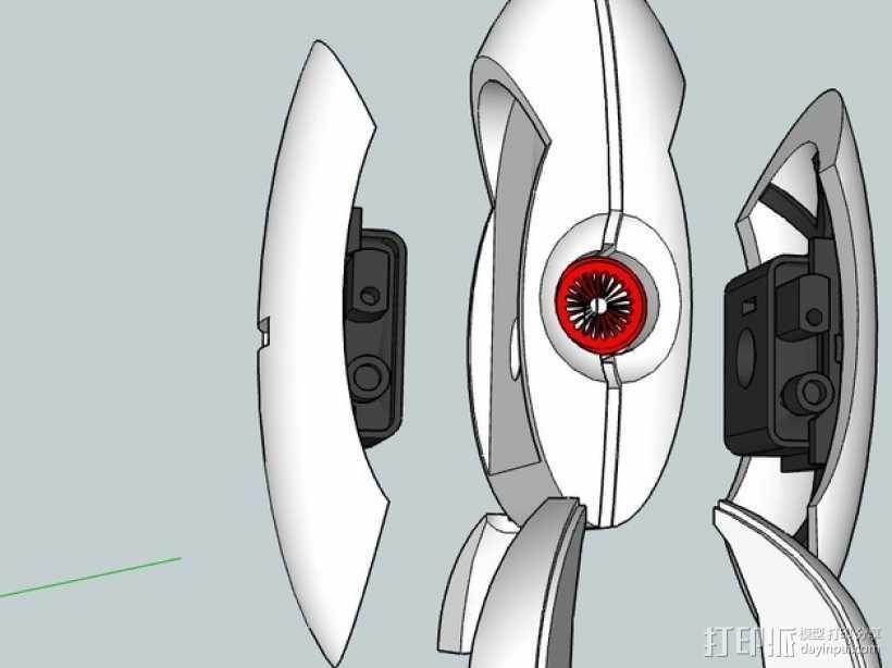 哨兵炮塔 3D打印模型渲染图