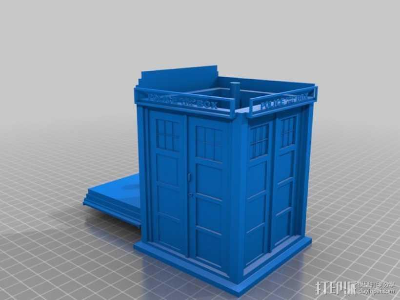 塔迪斯警察亭 3D打印模型渲染图