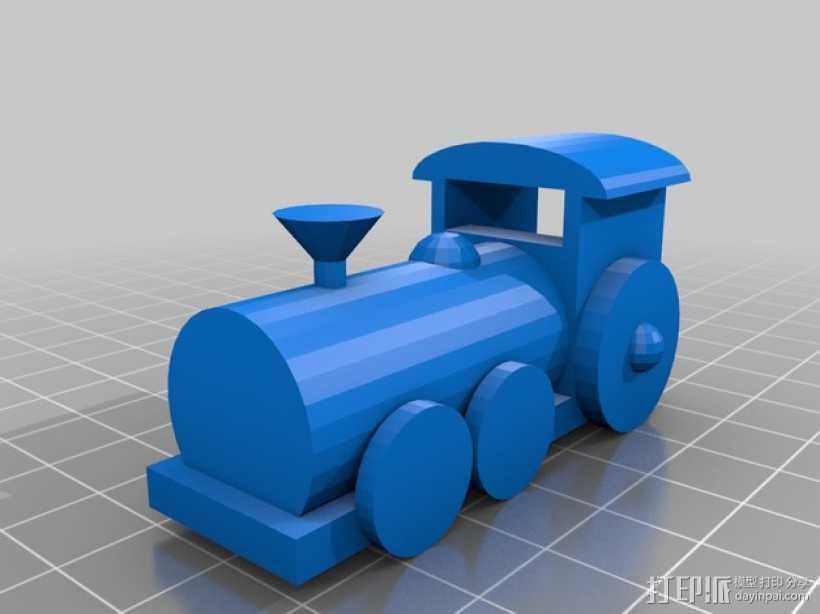 迷你火车 3D打印模型渲染图