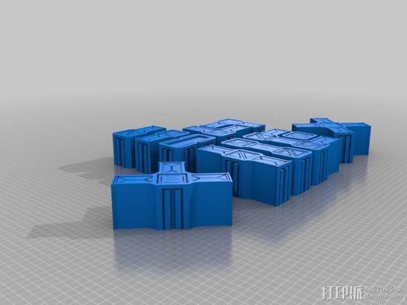 建筑墙壁模型 3D打印模型渲染图