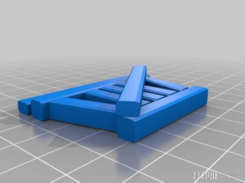 火车轨道 3D打印模型渲染图