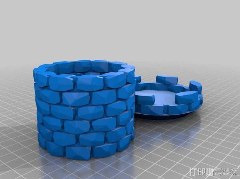 炮塔 3D打印模型渲染图