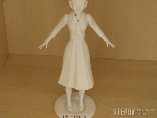 生化奇兵 伊丽莎白模型 3D打印模型渲染图