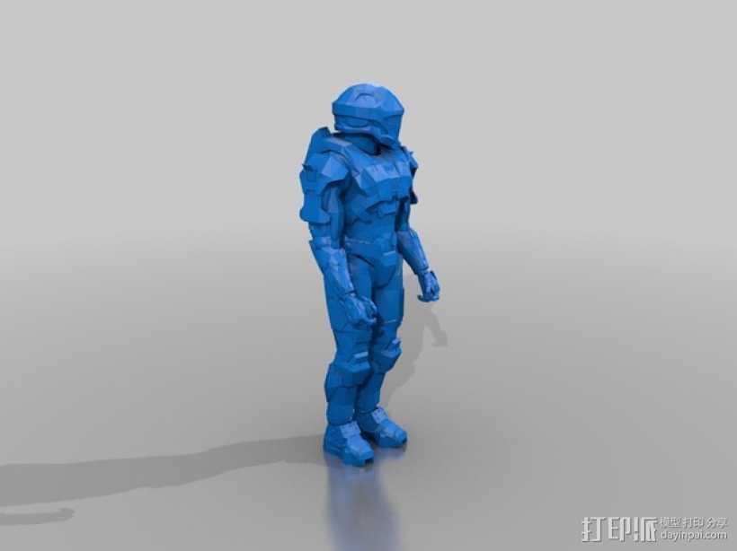 光晕 战士 3D打印模型渲染图