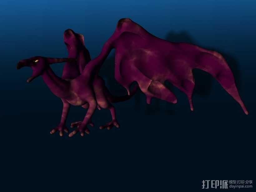 西方龙 3D打印模型渲染图