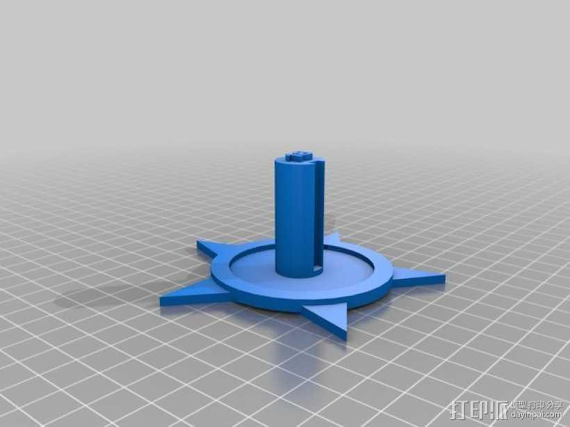火箭基座 3D打印模型渲染图