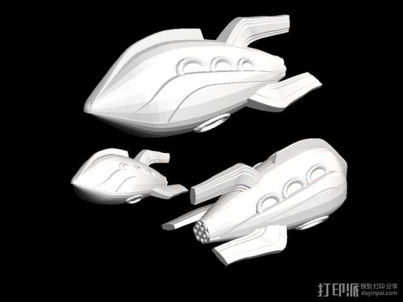 Zorgon 飞船 3D打印模型渲染图