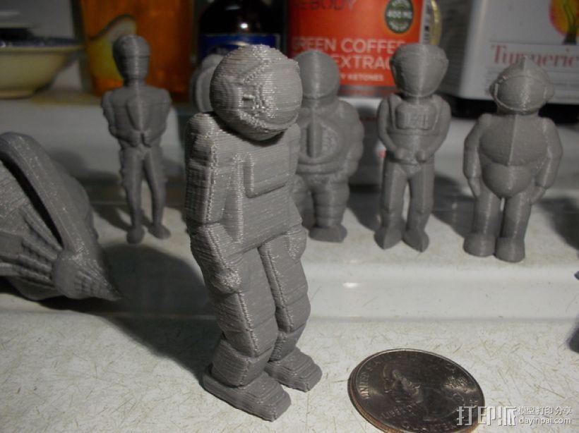 宇航员 3D打印模型渲染图