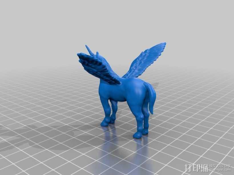 独角飞马 3D打印模型渲染图