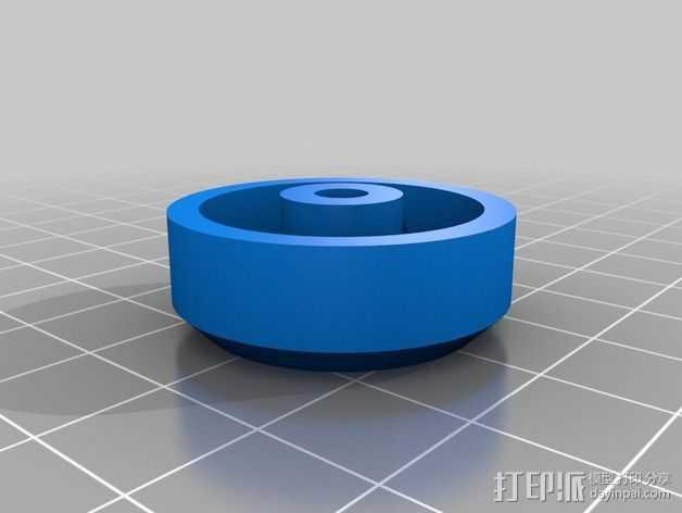 松木车轮 3D打印模型渲染图