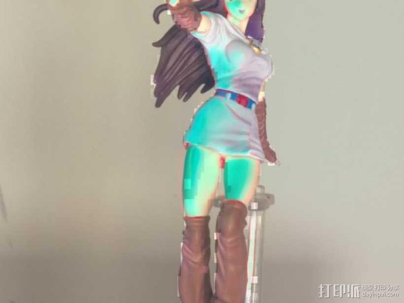 漫画女孩 3D打印模型渲染图