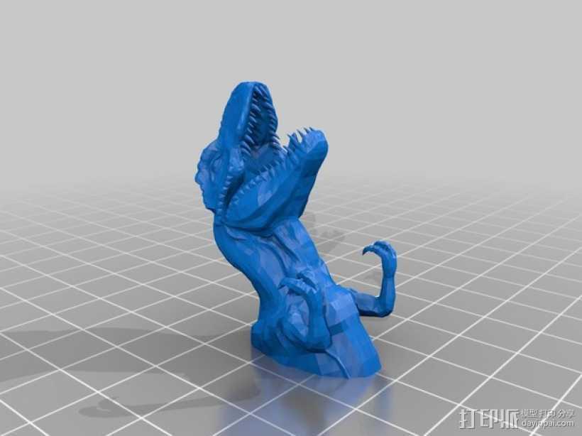 霸王龙钥匙坠 3D打印模型渲染图
