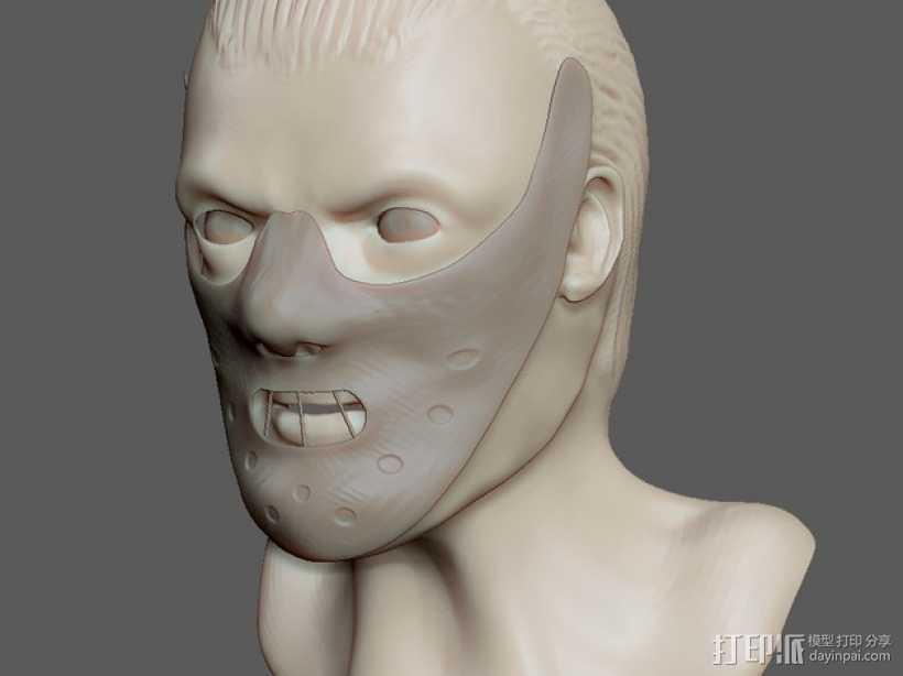 汉尼拔·莱克特头部模型 3D打印模型渲染图