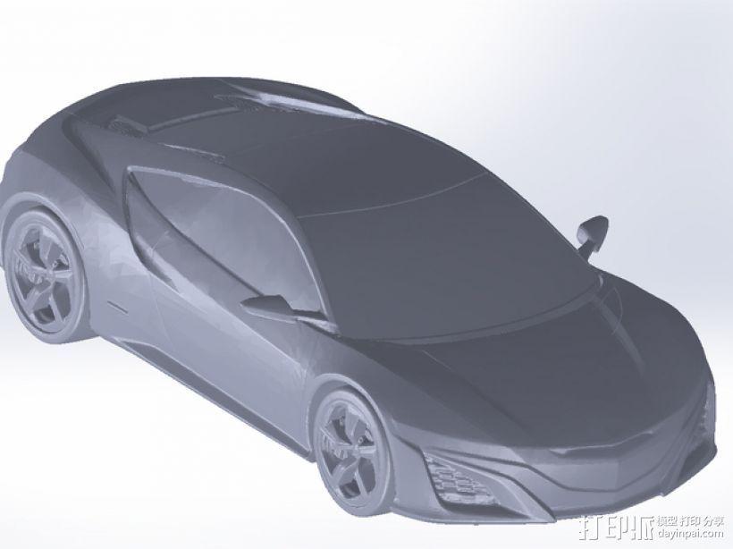 Honda NSX 本田汽车 3D打印模型渲染图