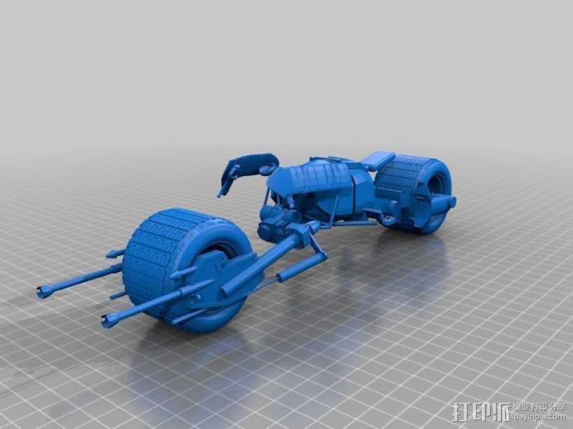 蝙蝠摩托车 3D打印模型渲染图