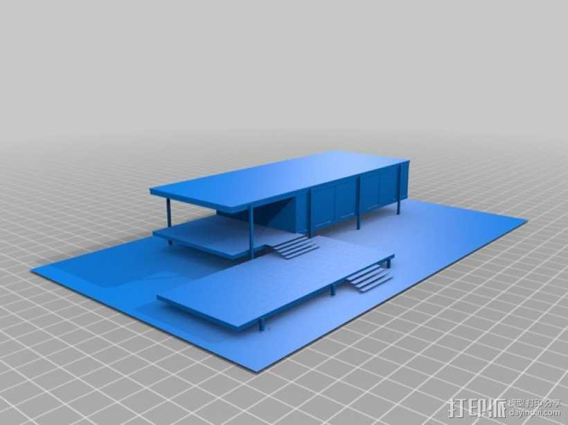 Farnsworth房屋模型 3D打印模型渲染图