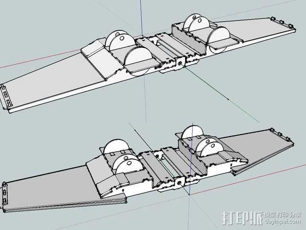 星球大战X翼战斗机 3D打印模型渲染图