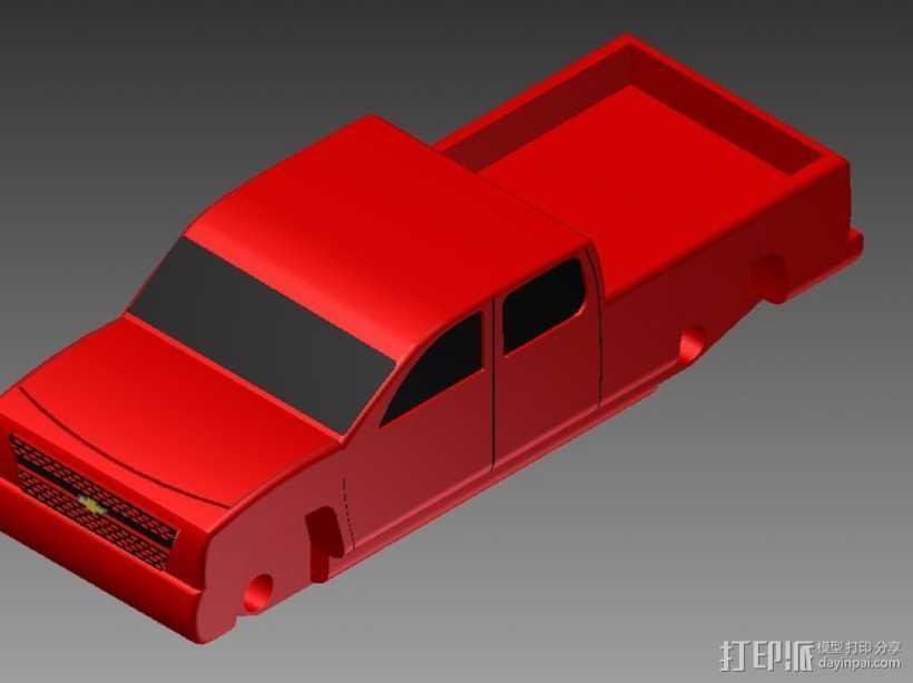 Chevrolet Silverado雪佛兰卡车 3D打印模型渲染图