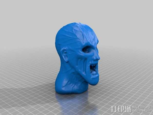 僵尸头部模型 3D打印模型渲染图