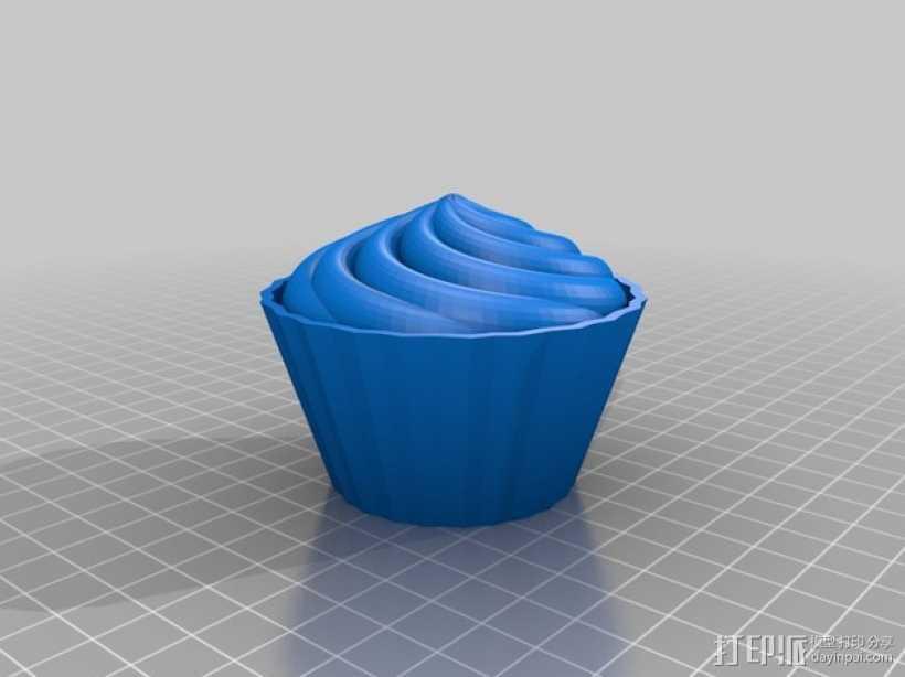 纸杯蛋糕 杯型蛋糕 3D打印模型渲染图